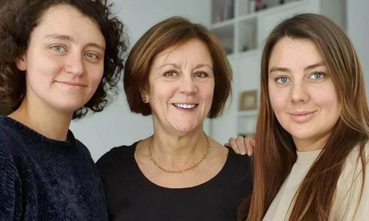 Anja met haar dochters
